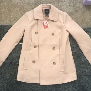Light pink button up coat!